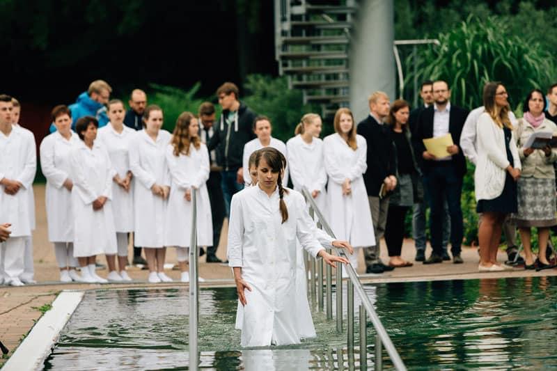 Taufe im Naturbad Brackwede